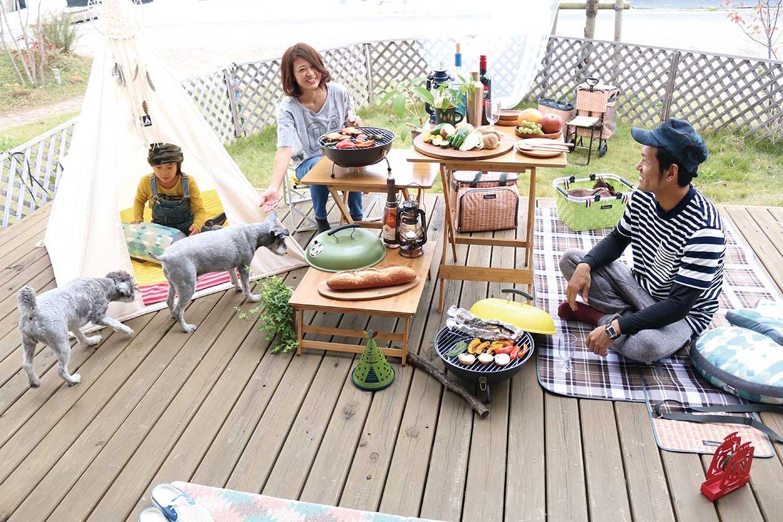 自然のぬくもりを感じるバンブーテーブル