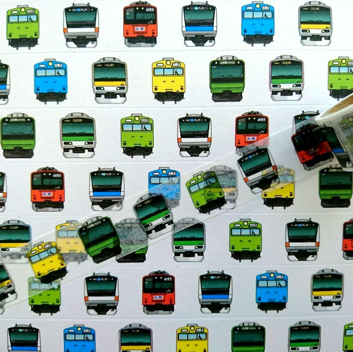 お馴染み駅や路線、車両のマスキングテープ