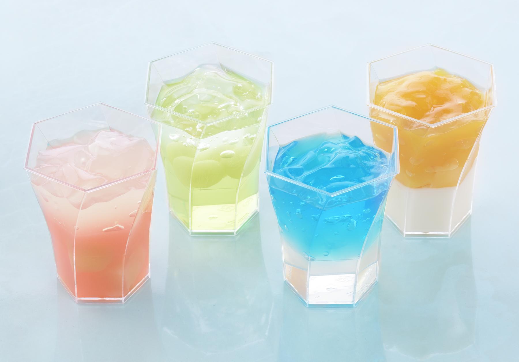 銀座コージーコーナーから新発売される夏季限定カップデザート「Wゼリー」4種
