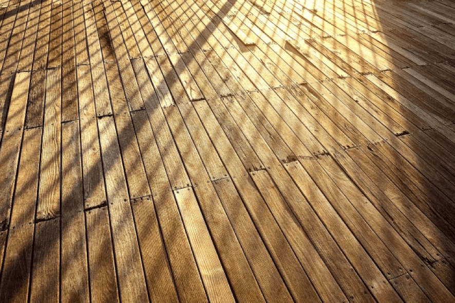 ウッドデッキの木目