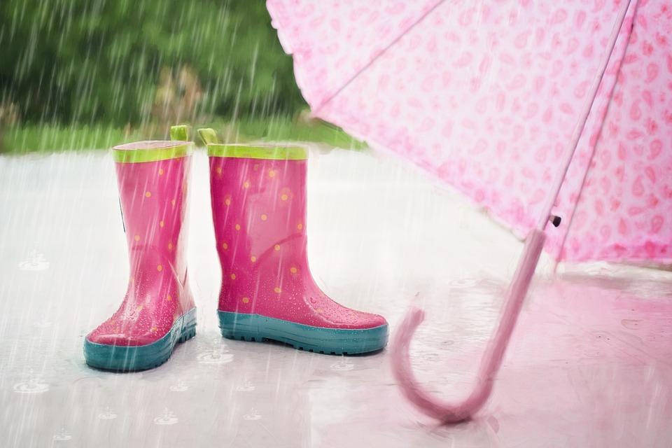 レインブーツと傘