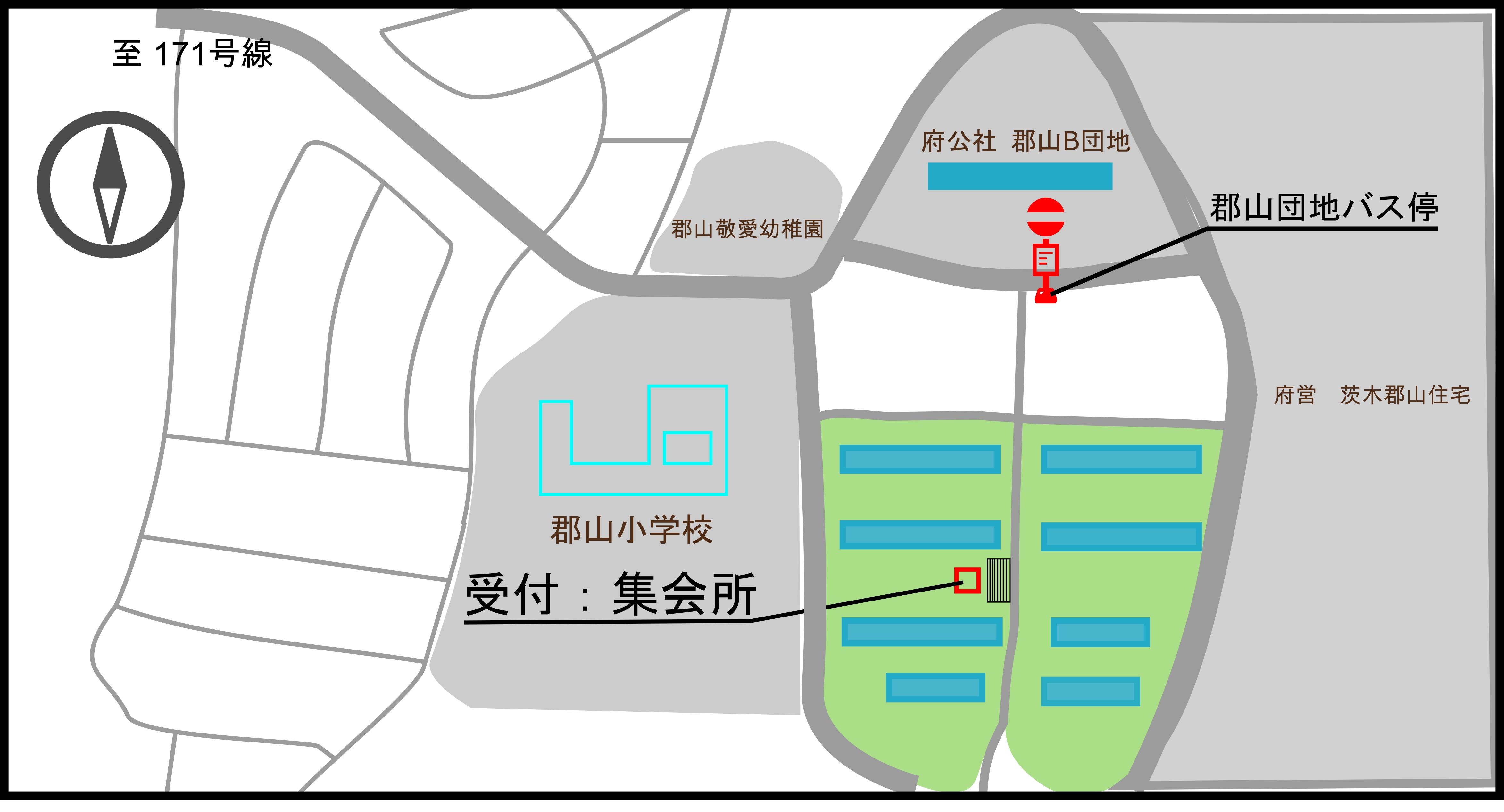 開催場所の地図