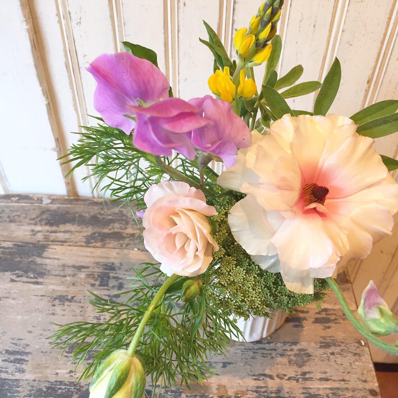 テーブルに飾った素敵なお花