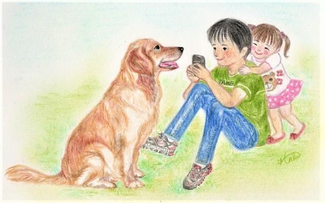 写真 子ども 犬