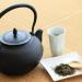 茶葉とコップ、土瓶