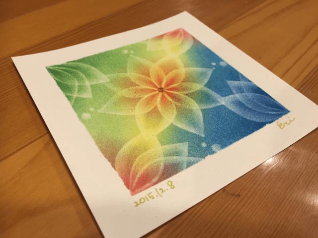 曼荼羅アート 2015.12.8