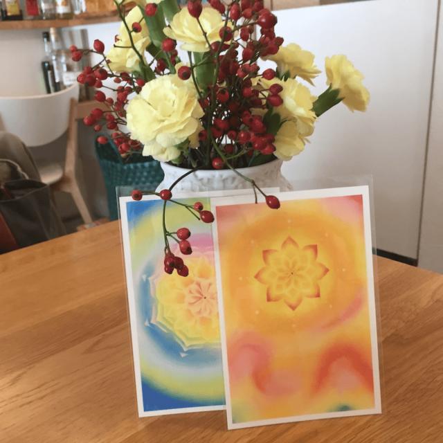 曼荼羅アートとお花
