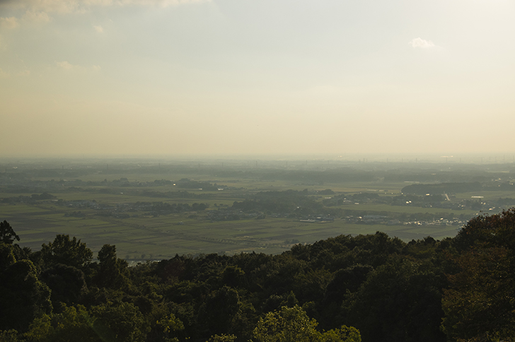 筑波山から見た景色