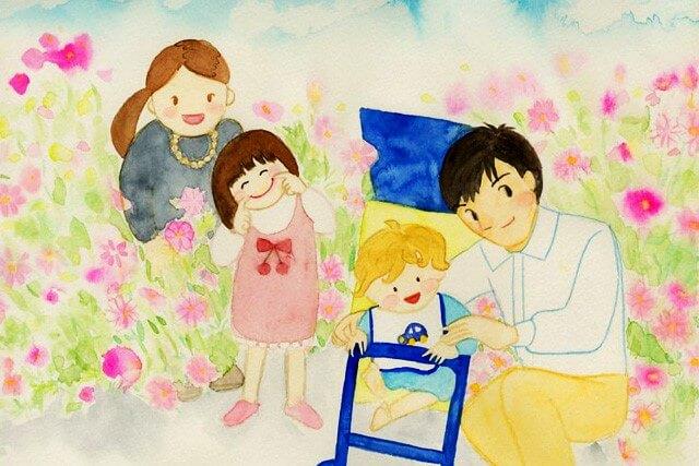 幸せ家族4人