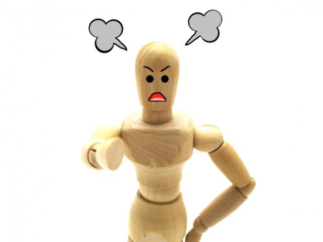 怒っている人形