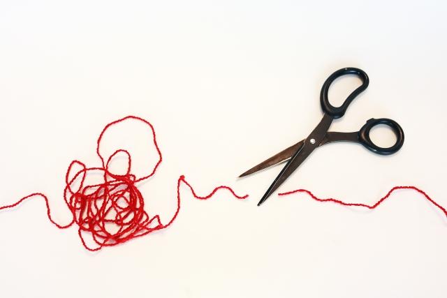 赤い糸が切れる
