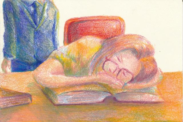 疲れ切った妻