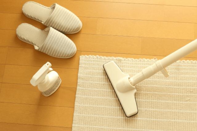 掃除機と床