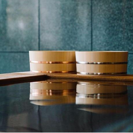 木曽のサワラでつくった湯桶