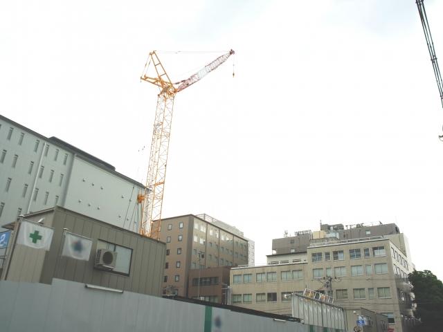 都会の工事現場