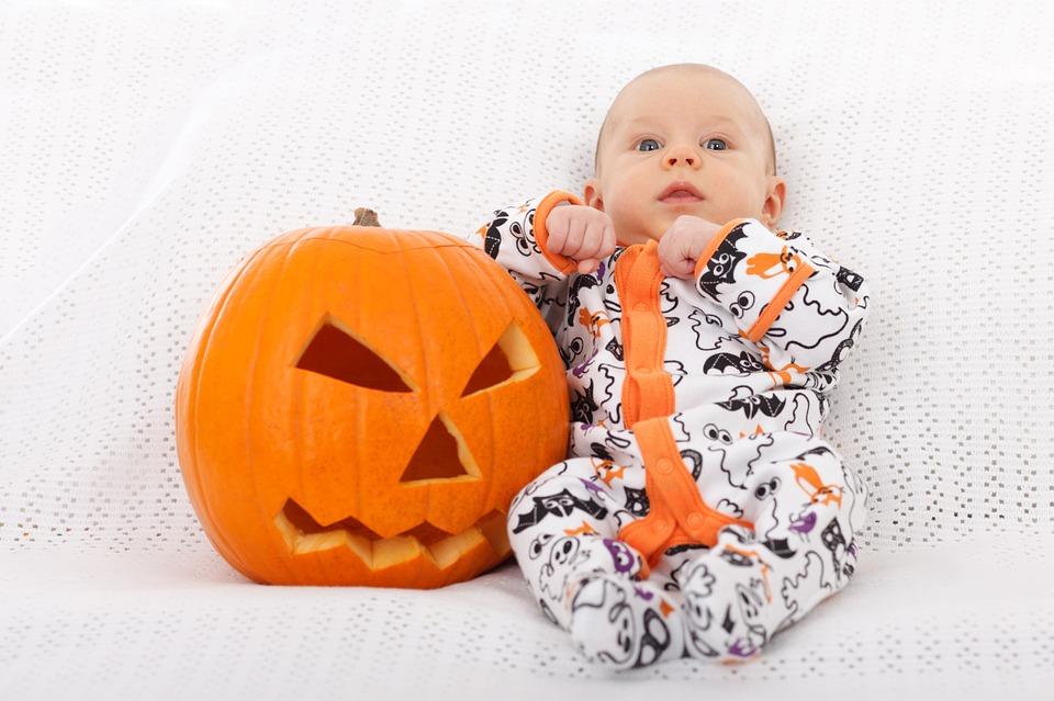 ジャック・オー・ランタンと赤ちゃん