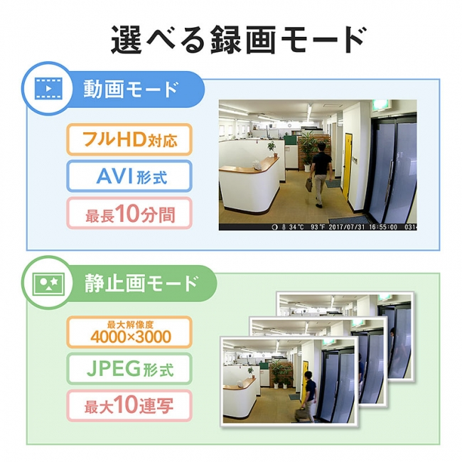 動画モードt静止画モードの比較
