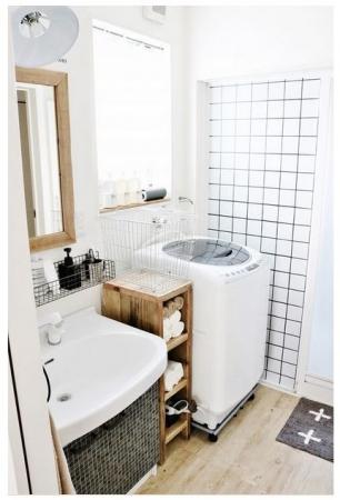 コンテスト2位のすっきり片付いた使いやすい洗面所