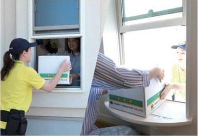 宅配便の受け取り専用窓