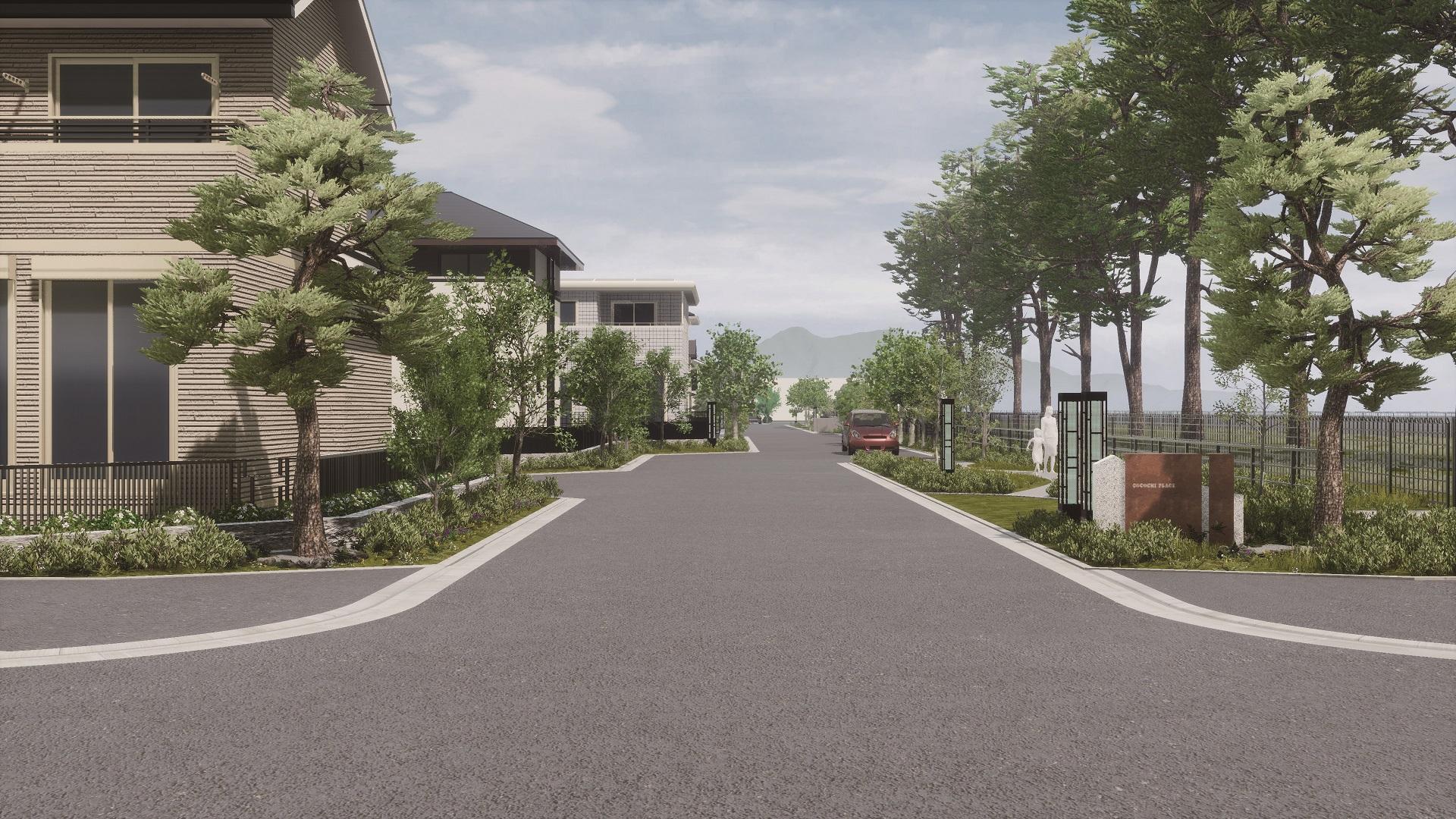 『ココチプレイス学園の森』街の風景