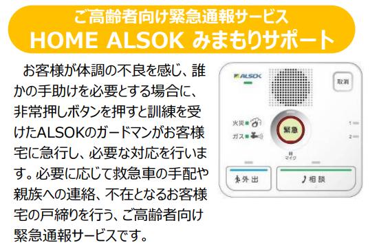 HOME ALSOK みまもりサポートの機器画像と説明