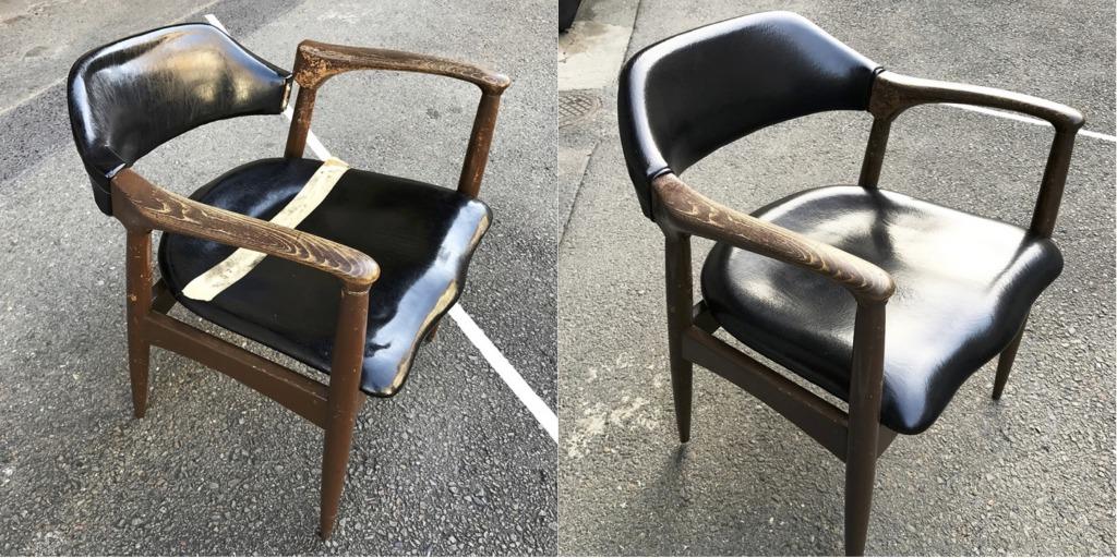 椅子の修理ビフォアとアフター
