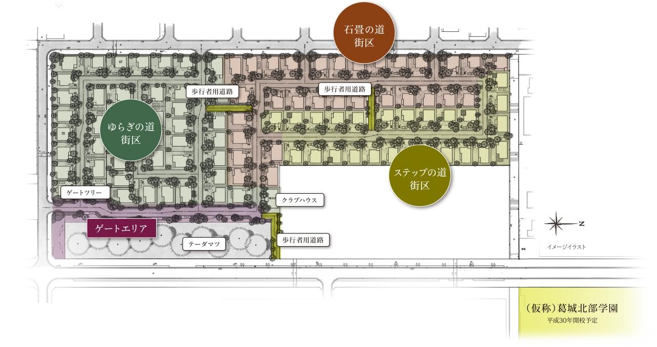 『ココチプレイス学園の森』を構成する3つの街区