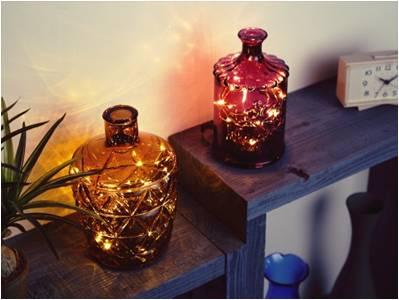 ハンドメイドガラスのボトルライト
