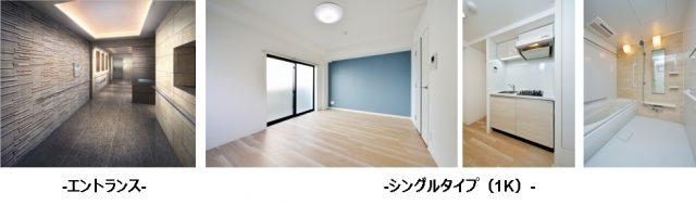 ARTESSIMO LUSTのエントランスと1Kの部屋