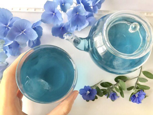 青い緑茶の織姫