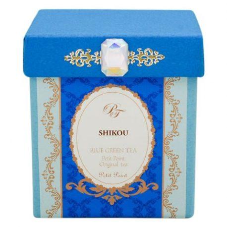 青い緑茶のパッケージ