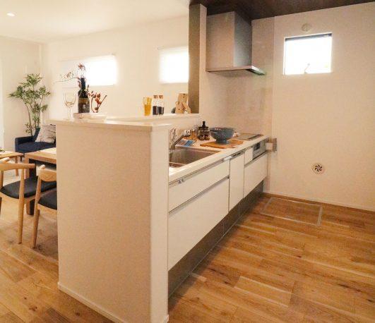 デライト草加の対面キッチン