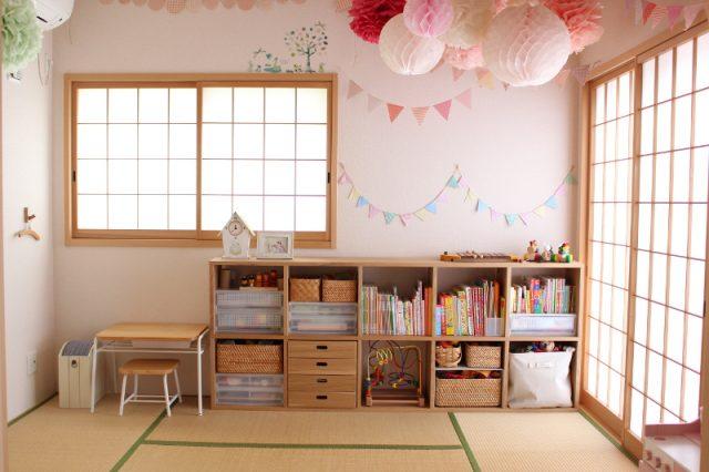 和室がかわいい子ども部屋に