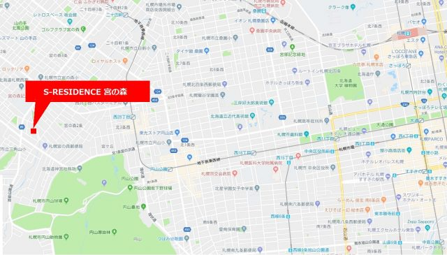 マンションの周辺地図