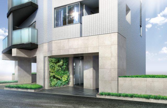 GENOVIA新宿早稲田 green veilのエントランス